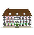 nice half-timbered house vector image vector image