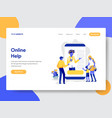 online help and support concept vector image