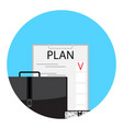 planning to-do list icon vector image