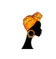 portrait afro woman shenbolen ankara turban vector image vector image