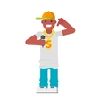 Rapper character vector image vector image
