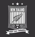 rugtournament emblem in new zealand sport vector image