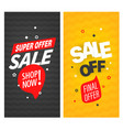 sale off banners collection vector image vector image