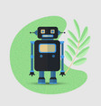 save planet cartoon concept with robot vector image vector image