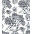 seamless pattern with hand drawn thistle or vector image vector image