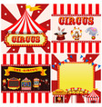 set circus template vector image vector image