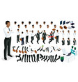 set for create your character in isometric vector image vector image