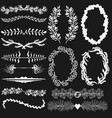 set of black and white decorations vector image vector image