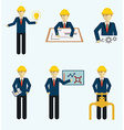 Set of engineers icon vector image vector image