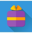 Simple gift icon in flat style vector image