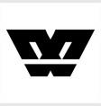 simple w wx geometric initials logo vector image vector image