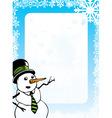 Snowman Design vector image vector image