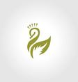 Swan Logo Beauty SPA vector image