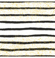 tile pattern with black stripes and golden dust vector image