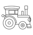 Train locomotive toy icon outline style vector image vector image