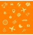 travel background orange Seamless pattern vector image vector image