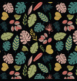 tropic floral pattern vector image