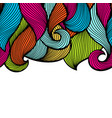 wavy curled seamless pattern abstract outline vector image