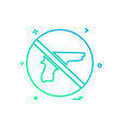 weapon not allowed icon design vector image vector image