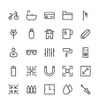 Web and User Interface Outline Icons 16 vector image