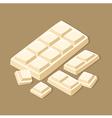 White Chocolate Bar vector image