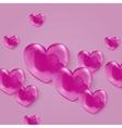 a bright shiny pink polka vector image