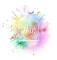Colorful background for Holi celebration with vector image