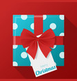 gift box and greeting card background vector image