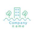 contour logo for a construction company vector image