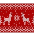 Red knit with goat seamless pattern tile vector image