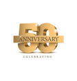anniversary 50 gold 3d numbers vector image vector image