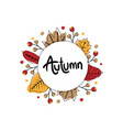 autumn cute banner with circle vector image vector image