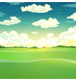 Beautiful country landscape vector image