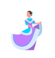 beautiful mexican woman dancer in traditional vector image
