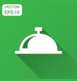 bell icon in flat style alarm bell with long vector image vector image