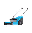 blue lawnmower isolated flat icon vector image