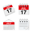 calendar planner greeting card text vector image vector image
