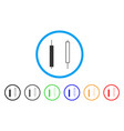 candlesticks rounded icon vector image vector image