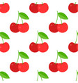 cherry seamless pattern for use as wrapping paper vector image vector image