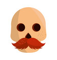 cinco de mayo skull with moustache vector image