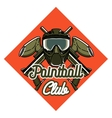 Color vintage paintball emblem vector image