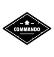 commando troop logo simple style vector image