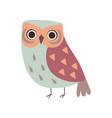 cute adorable owl bird cartoon character vector image vector image