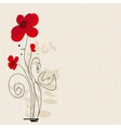 cute floral greeting card vector image vector image