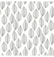 Elegant pattern with leafs drawn in thin lines vector image
