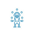 entertaining children linear icon concept vector image