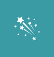 fireworks icon simple winter sign vector image