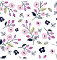 floral seamless pattern with abstract flowers vector image vector image