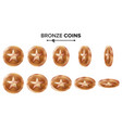 game 3d bronze coin with star flip vector image vector image