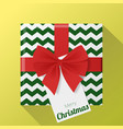 gift box and greeting card background vector image vector image